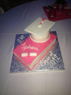 Graduation Cake I made for my Niece By Tiqua on CakeCentral.com