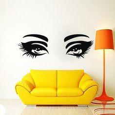 Beauty Salon Decor Wall Decal Make-Up Girl For Woman Decals Vinyl Sticker Bedroom Window Art Mural Ah107