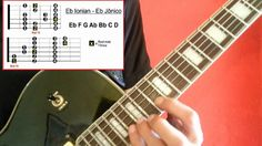 Major Scale (2 patterns) Eb IONIAN MODE - Eb JÔNICO - For guitar FAST LE...