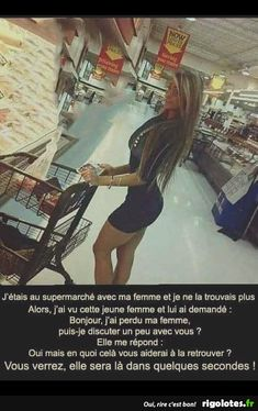 perdue de vue au supermarché Good Jokes, Memes, Pranks, Me As A Girlfriend, Haha, Funny Pictures, Funny Quotes, Hilarious, Humor