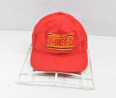 c346841aa Vintage 90s Kansas City Chiefs NFL Football Spell Out Snapback Hat Cap Red   fashion  clothing  shoes  accessories  mensaccessories  hats (ebay link)