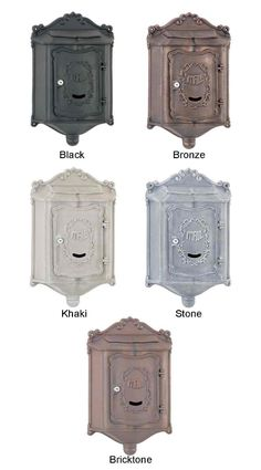 Wall Mount Mailbox Victorian Mailboxes, Vintage Mailbox, Wall Mount Mailbox, Mounted Mailbox, Post Box Wall Mounted, Home Exterior Makeover, Mail Boxes, Home Upgrades, Front Porches