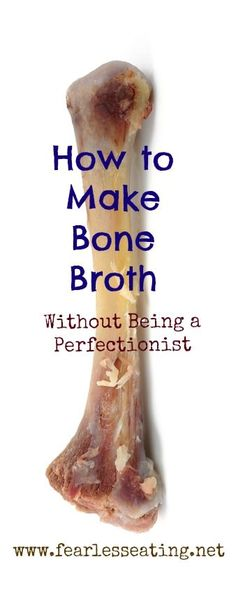 to Health how to make How to Make Bone Broth Without Being a Perfectionist Learning how to make bone broth is easy. But many people over complicate it. With one big idea you& have all you need to make bone broth at home. Paleo Recipes, Soup Recipes, Whole Food Recipes, Cooking Recipes, Instant Pot, Crockpot, Paleo Soup, Bone Broth, Bone Marrow
