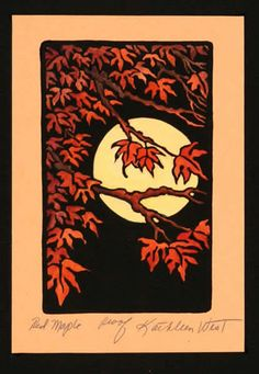 Red Maple - Kathleen West - block prints