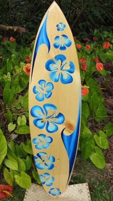 Original Made in Hawaii Custom Artistic Surfboards, Decorative Surfboards, Surfboard Art, Surfboard Shelves, and Surfboard Tables. (Painting/ designing surfboards will be a fun thing for me! Surfboard Painting, Surfboard Art, Skateboard Art, Decoration Surf, Surf Decor, Roxy Surf, Thema Hawaii, Deco Surf, Surfboard Table