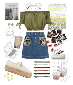 """School days😴"" by sonias1116 ❤ liked on Polyvore featuring STELLA McCARTNEY, Superga, Madewell, Nasty Gal, Kinfolk and Retrò"