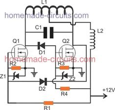 second design of a DIY induction heater with minimum components Hobby Electronics, Electronics Components, Electronics Projects, Electronic Circuit Projects, Electronic Engineering, Power Supply Circuit, Induction Heating, Electronic Schematics, Smart Home Automation