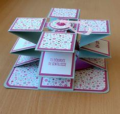 Hej tak for dine små ord om mine fotos af Camargue ; Fancy Fold Cards, Folded Cards, Scrapbooking Original, Birthday Explosion Box, Tarjetas Diy, 21st Birthday Cards, Pop Up Cards, Card Tutorials, Easy Diy Crafts