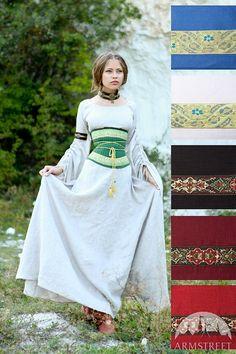 Ceinture-Corset lin médiévale Renaissance « Maîtresse des collines »