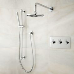 Tosca Thermostatic Shower System with Rainfall Shower and Hand Shower