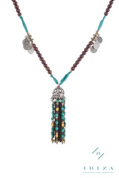 Our PALMA Necklace made out of Silk and Wood. Get your boho chic style right! #Handmade #Accessories