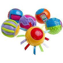 Fisher-Price Roll-a-Rounds: Touch 'N Tickle Rounds by Fisher Price Educational Products. $19.99. Roll-a-Rounds are designed to stimulate baby's developing senses. These six Touch & Tickle Rounds will appeal to and develop baby's touch. These colorful rounds are textured with various bumps, grooves, ridges and elements that will surely tickle baby's fingers.Recommended Age: 6 months - 3 years8.7 x 8 x 2.7 inches ; 12.8 ounces - 12.8 ouncesManufacturer Recomended Age: 6 months and up