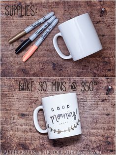 Trendy Diy Art Projects Sharpie Coffee Mugs Diy Mugs, Personalized Coffee Mugs, Personalized Gifts, Diy Becher, Sharpie Crafts, Sharpie Mugs, Sharpie Paint, Sharpie Markers, Sharpies