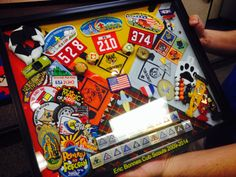 Great Shadow Box idea Ms. Bonnes gave her son at Arrow of Light Ceremony, his cross over to Boy Scouts.
