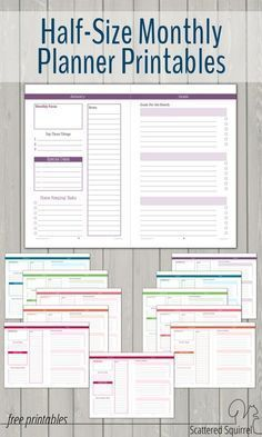 Monthly Planner Printables : Half-Size monthly planner printables are a great way to stay on track all month long.Half-Size Monthly Planner Printables : Half-Size monthly planner printables are a great way to stay on track all month long. Arc Planner, Planner Tips, Planner Pages, Life Planner, Weekly Planner, Printable Planner, Happy Planner, Free Printables, Planner Stickers