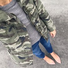 Outfit round-up, with examples of how to wear: ankle boots, baseball tee, camo jacket, cardigan, chambray shirt, denim shirt, everyday style, flat sandals, graphic tee, little black dress, nude flats, overalls, skirt, sweater