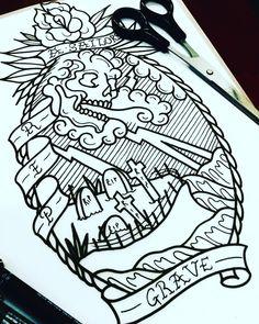 Bike Tattoos, Cool Tattoos, Tattoo Sketches, Tattoo Drawings, Woodcut Tattoo, Geometric Flower, American Traditional, Doodle Drawings, Woman Painting
