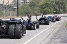 Just ALL the Batman cars on the road
