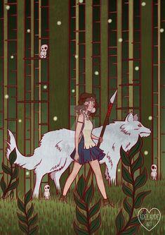 Wolf Girl by adelaydeart