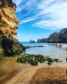 Who doesn't wanna lay out on a beach with these views?! Algarve Coast- Portugal