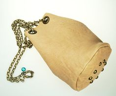 Small Bucket Bag with Chain Strap  Soft by NeroliHandbags on Etsy