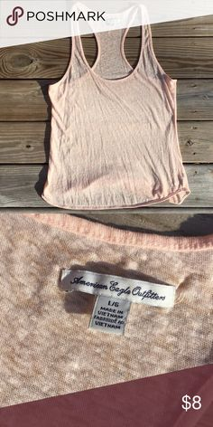 American Eagle racerback tank top AE racerback tank top. Peach color - size large - never worn. Cotton/poly blend American Eagle Outfitters Tops Tank Tops