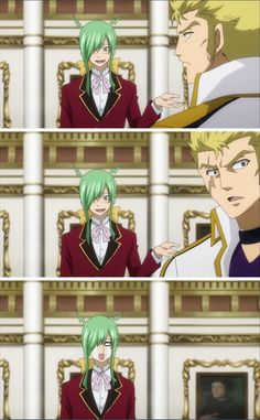 Laxus, breaking Freed's heart and ruining my OTP. Quit being an idiot and dance with the boy. Freed loves you and he's adorable af
