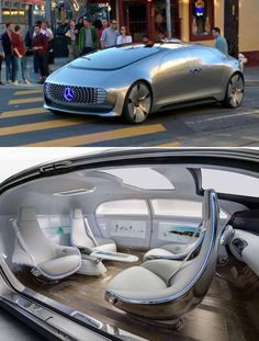 This driverless Mercedes has been spotted driving around San Francisco.    WHAT THE FUCKING FUCK  gimme