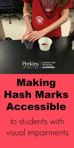 Make hash marks accessible to students who are blind or low vision with this easy adaptation!