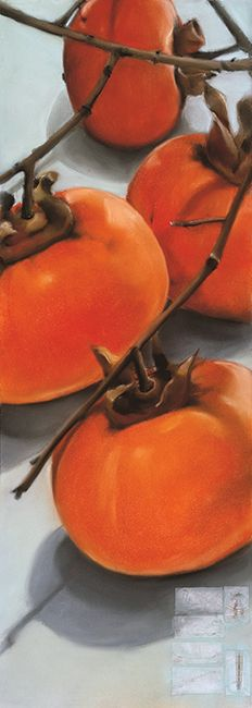 Persimmon Fruit, Drawing Tips, Pumpkin, Vegetables, Art Work, Creative, Painting, Collections, Artists