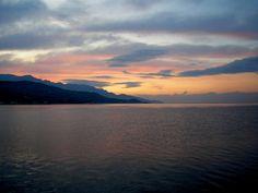 A wonderful sunset in the port of Vathi, Samos   Photo taken by Alex Korakis
