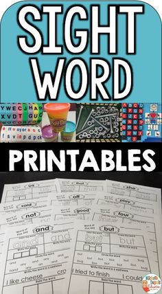Sight Words - 115 worksheets - Students can trace, write, build and read sight words. This resource will allow your students to develop important skills for reading. Sight words represent approximately of all printed text. This resource includes 115 w Kindergarten Language Arts, Kindergarten Reading, Kindergarten Worksheets, Teaching Reading, Kindergarten Journals, Teaching Ideas, Sight Words Printables, Sight Word Worksheets, Sight Word Activities