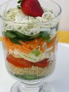 Easter Dinner Recipes salad in a glass? don't mind if I do.salad in a glass? don't mind if I do. Easter Dinner Recipes, Salad Recipes For Dinner, Holiday Recipes, Side Dish Recipes, Raw Food Recipes, Easter Lunch, Easter Salad, Trifle Dish, Tiny Food