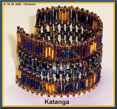 Bracelet Tutorial  Katanga by be and bead - series of schemas.  #seed #bead #tutorial