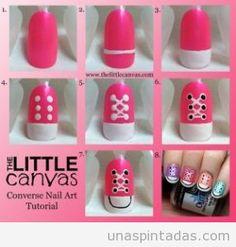 Cómo hacer zapatillas en tus uñas #nailart #nails #tutorial