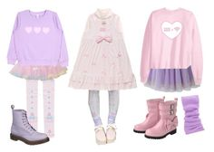 """winter fairy kei"" by fairy-chan ❤ liked on Polyvore featuring Bodyline and Dr. Martens"