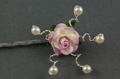 Pearl Tea Rose Hair Grip