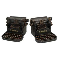 Three Hands Typewriter Book Ends
