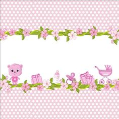 Cute floral border with baby card vector 01 - https://www.welovesolo.com/cute-floral-border-with-baby-card-vector-01/?utm_source=PN&utm_medium=wcandy918%40gmail.com&utm_campaign=SNAP%2Bfrom%2BWeLoveSoLo