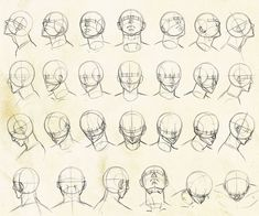 Drawing Faces Tips - Human Face Drawing, Face Drawing Reference, Drawing Heads, Anime Poses Reference, Guy Drawing, Figure Drawing, Art Drawings, Drawing Faces, Face Anatomy