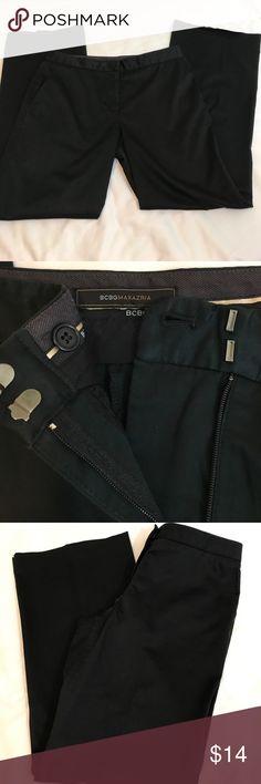 BCBG MAXAZARIA black slacks 8 Beautiful BCDG black size size 8 EUC BCBG Pants Trousers