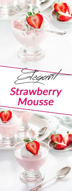 This simple strawberry mousse recipe is a perfect way to celebrate strawberry season. Delicate, fragrant taste, airy texture will make you fall in love with Chocolate Creme Brulee, Chocolate Mousse Recipe, Strawberry Mousse, Strawberry Desserts, Food Tasting, Dessert Recipes, Pudding Recipes, Party Recipes, Snack Recipes