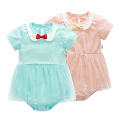 340981dfe Click to Buy    Baby Girl Rompers Cute Cotton Summer Jumpsuits Roupas lace.