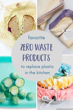 Stop using so much plastic in the kitchen and switch to these zero waste, reusable products like paperless towels, bowl covers, silicone bags and beeswax wraps. | #zerowaste #kitchen #reusable