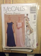 1990's McCall's 2076 Lined Gown Evening Dress B36- 40 Sewing Pattern