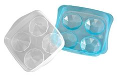 Progressus Frozen Diamonds Ice Tray by Gourmac. $7.27. Makes 4 frozen diamond ice shapes. Includes base and cover. Large size of each ice keeps drinks cold without melting too quickly. Add some -inchbling-inch to your beverage. Dishwasher safe. Add a little -inchbling-inch to your beverage. This fabulous 2-piece ice mold makes 4 large diamond-shaped ice cubes, each approximately 2-inch in width. The large ice shape keeps your drinks cold without melting too quickly. Easy ...