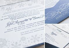 Winter theme! Custom Wedding Announcements | New Jersey Letterpress Invites