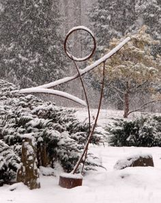wind dancer, Sculpture by Justin Long made from reclaimed farm equipment