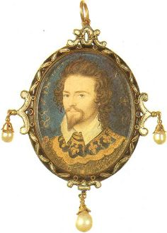 Miniature of George Clifford, 3rd Earl of Cumberland by Nicholas Hilliard, 1580. (Nelson Atkins Museum)