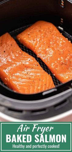 Air Fryer Salmon - air fryer recipes easy Informations About Air Fryer Salmon Pin You can easily use m - Air Fryer Oven Recipes, Air Fryer Dinner Recipes, Crockpot, Cooks Air Fryer, Air Fried Food, Air Fryer Healthy, Air Frying, Easy Meals, Healthy Dinners
